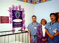 Hospital Emergency Department Staff  display their Pledges throughout the Emergency Department