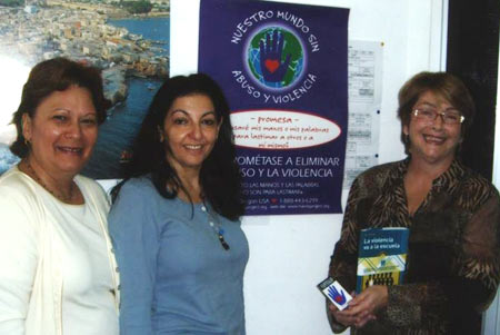 "Caracas, Venezuela. Ana Tettner, Conflict Resolution Specialist and Author of ""Violence Goes to School, La Violencia va a la escuela."". Pictured here with teachers at Caracas area schools. May 2006."